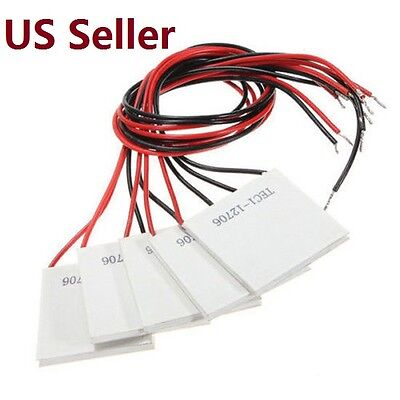 5pcs Tec1-12706 Cooling Peltier Plate Thermoelectric Cooler Heat Sink Module