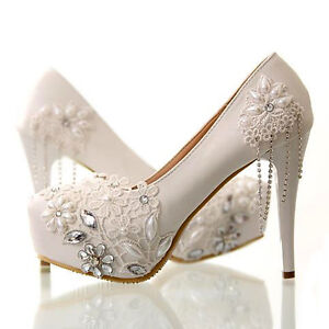 New, Never Worn Wedding Shoes... Size 5, 5.5 and 7.5