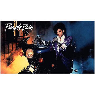 "Prince ""Purple Rain"" Seated on Motorcycle Looking Good 8 x 10 inch photo"