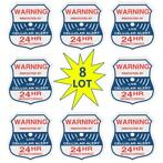 8pcs Alarm Burglar Security Surveillance Stickers Home Wi...