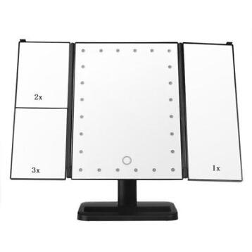 Cosmetic Table Tri-Fold Make-upspiegels Vergrootglas LED ...
