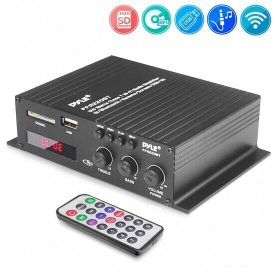 Bluetooth Mini Blue Series Compact Class-T Amplifier, 120W,
