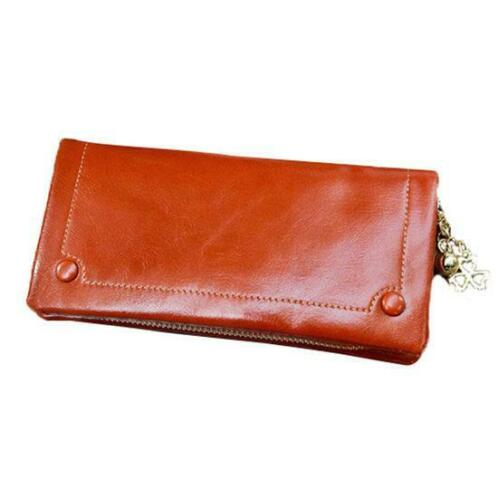 Wasachtige olie Leather Long Wallets Girls HASP poftemonn...