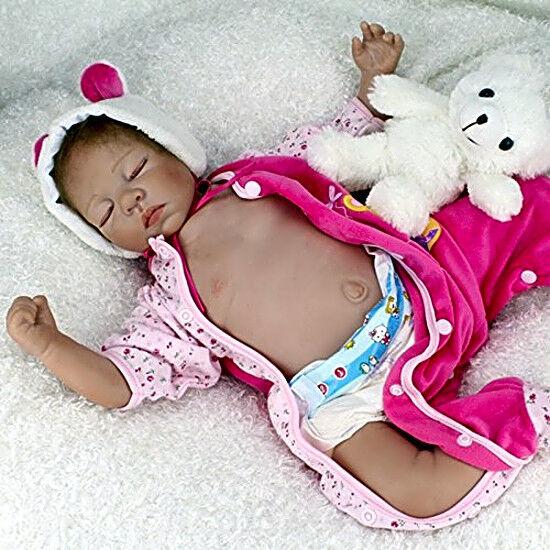 Купить NPK - Cloth Silicone Reborn Baby Dolls 22inch Realistic Girl Babies Dolls NPK New
