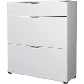 Trento Shoe Storage Cabinet In White High Gloss