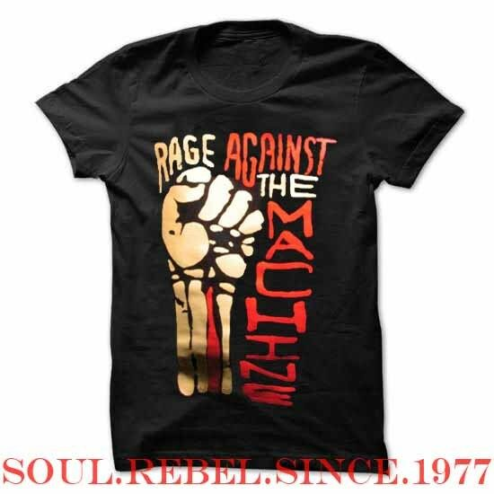 RAGE AGAINST THE MACHINE PUNK ROCK  MEN'S SIZES