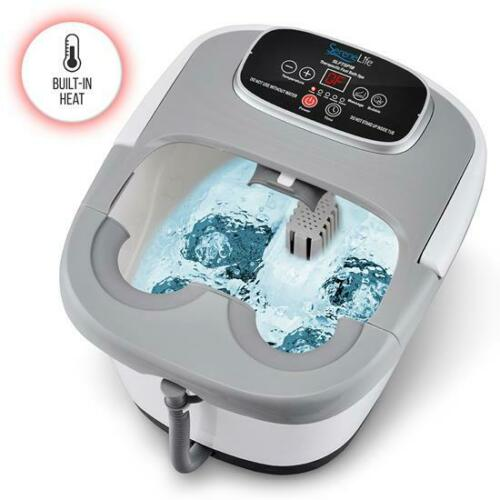 Serene-Life Therapeutic Foot Massager, Hydrotherapy Spa Bath w Vibration & Heat