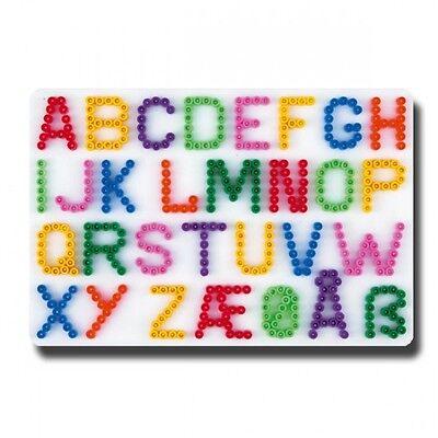 HAMA midi Bügelperlen-Stiftplatte weiß Nr.272 Buchstaben