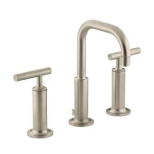 Kohler 14407-4-BV Purist Widespread Lavatory Faucet With Low Goo