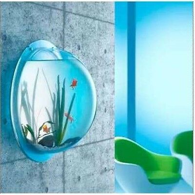 Wall Mounted Acrylic Fish Tank Bowl Bubble Aquarium Hanging Terrarium Goldfish