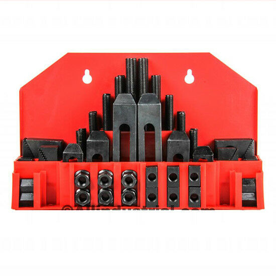 58 Pc Pro-Series 1/2 T-Slot Clamping Kit Mill Machinist Set 3/8-16