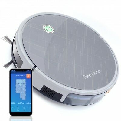 Pure-Clean PUCRC660 Gyroscope Navigation Robot Vacuum w/ Mobile App Control