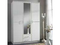 WARDROBES ROBES TALL BOY BRAND NEW 3 DOOR 2 DRAW LAST FEW 1433DBCB