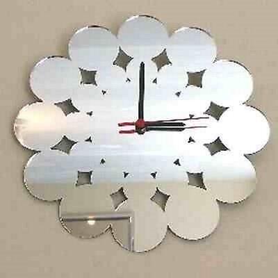 Contemporary Circle Clock - Acrylic Mirror (Several Sizes Available)