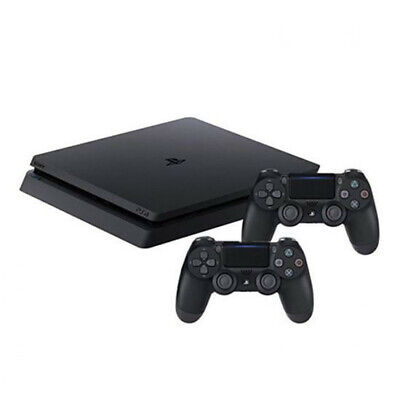 Sony PlayStation 4 Slim 1TB Black Console with 2 Controllers and Charging Cradle