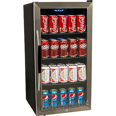 Compact Beverage Refrigerator w/ Stainless Steel Door, Wine Cooler Mini Fridge