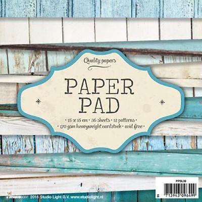Paper Pad 36 Blatt 15x15 cm Scrapbook Papier, PPSL39