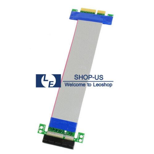 Pci-e 4x To 4x Slot Riser Extension Card Extender Ribbon ...