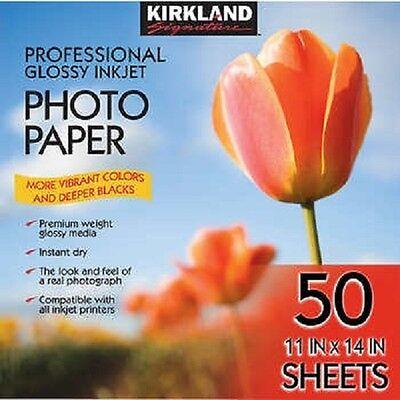 Kirkland Professional Glossy Photo Paper - 11 x 14 (50 Sheets) FAST SHIPPING