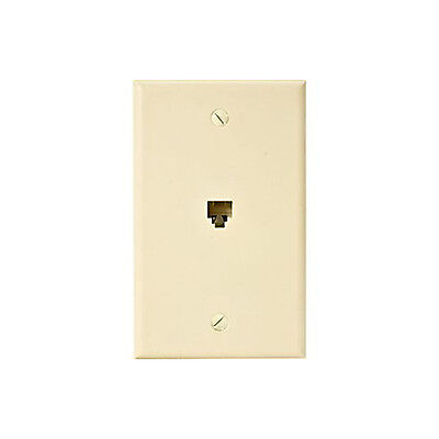 LOT OF 100 Eagle Telephone Jack Wall Plate Ivory RJ11 Modular 4-Conductor Phone 4 Conductor Modular Jack