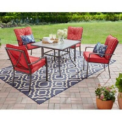 Patio Furniture Dining Set Table and Chair Sets Clearance 5 Piece 4 Chairs Sale  ()