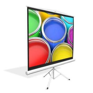 New 72-inch Video Projector Screen, Easy Fold-Out & Roll-Up Projection Display, Tripod Stand Style DI8
