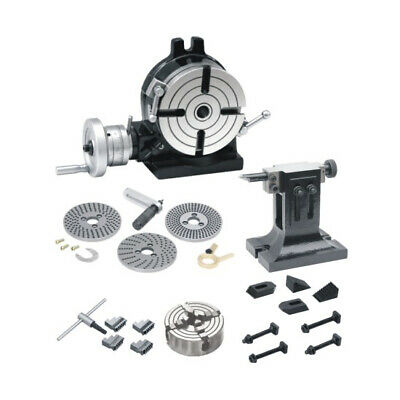New Rotary Table 8200mmdividing Platestail Stock 4jaw Chuck Indepd. Clamps