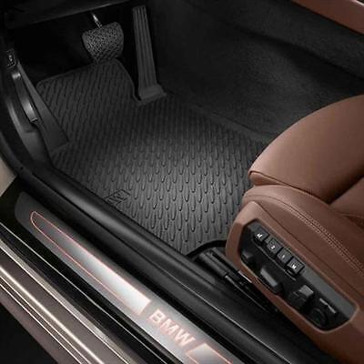 BMW OEM Black Rubber Mats 2012-2018 6 Series 640i 650i Non xDrive 51472163801