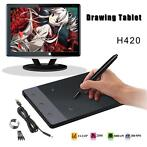 H420 USB Art Design Graphics Drawing Tablet Pad with Digi...