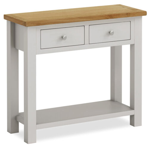 Foyer Table With Granite Top : Farrow painted console table with oak top stone