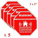5Pcs Home Alarm Security Stickers Decals Signs for Window...