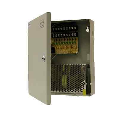 9 Port 12V 7.5A POWER SUPPLY BOX for CCTV CAMERAS 8 CH
