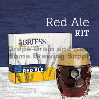 BRIESS Better Brewing Red Ale 5 Gallon Homebrew Beer Recipe & Ingredients (Best Homebrew Recipe Kits)
