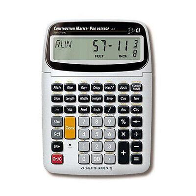 Calculated Industries Construction Master Pro Desktop Calculator 44080 Wtrig