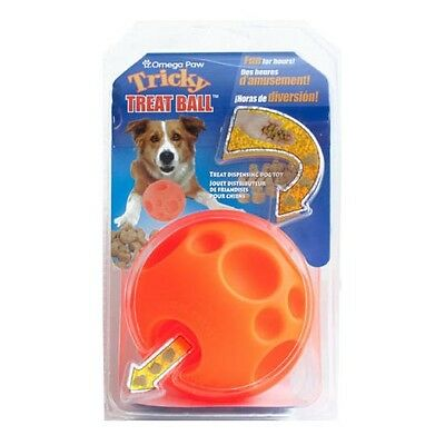 """Omega Paws Tricky Treat Ball Dog Toy SMALL - 2.5"""" diameter"""