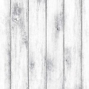 Whitewash Wood Panel Self Adhesive Wallpaper Vinyl