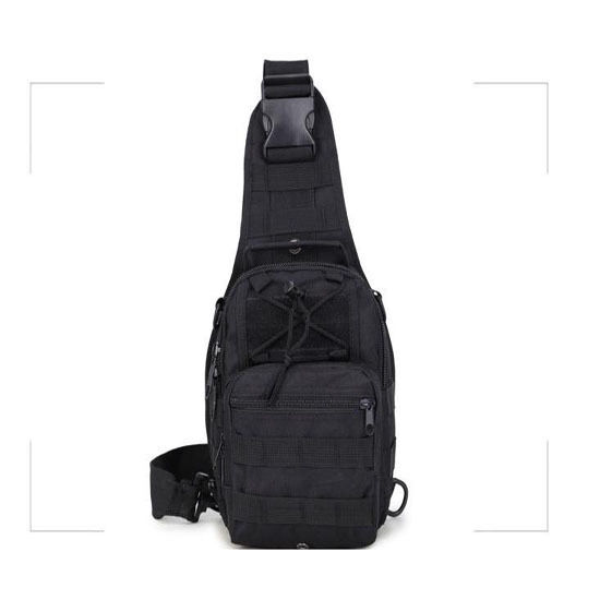Black Shoulder Tactical Backpack Camping Travel Hiking Trekking Bag Outdoor