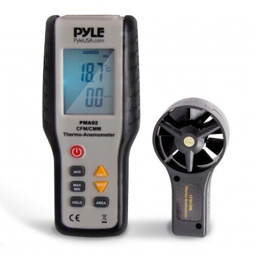 Pyle PMA92 Digital Wind Speed Anemometer , CFM Thermometer, Air Flow Meter