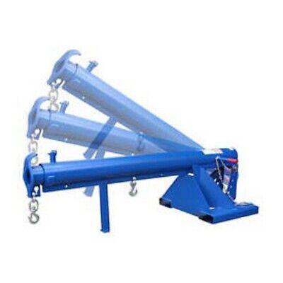 New Adjustable Pivoting Forklift Jib Boom Crane 4000 Lb. 24 Centers