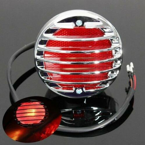 Chrome Motorcycle Tail Brake Red Light Voor Harley Bobber...