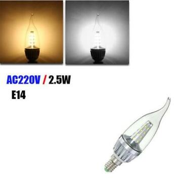 E14 2.5W 24 SMD 3014 LED Warm White White Candle Light La...