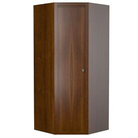 CORNER WARDROBE BLACK/BROWN 8 MTS OLD, GOOD CONDITION, REALY WELL MADE QUALITY FURNITURE BARGAIN