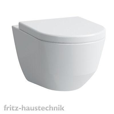 Laufen Pro Wand- WC Compact Spülrandlos, Tiefspül- WC weiß