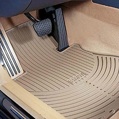 BMW Beige Rubber Floor Mats 2002-2008 Z4 Roadster & Coupe 2.5i 3.0si 82550151503 Bmw 2002 Rubber