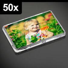 50x Premium Quality Clear Acrylic Blank Fridge Magnets 70 x 45 mm | Large Photo