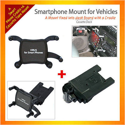Cassette Mount+Univesal Holder for Smartphone as iPhone,GalaxyS2,similar devices