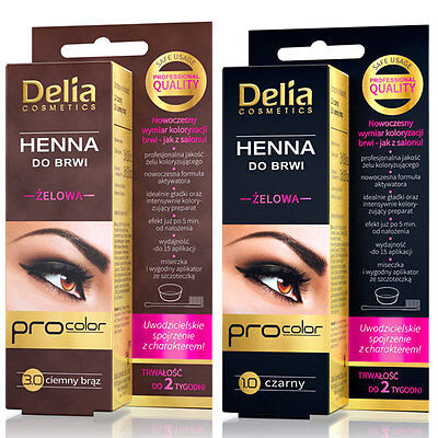 delia sourcils coloration gel henn brun noir - Coloration Sourcils Noir