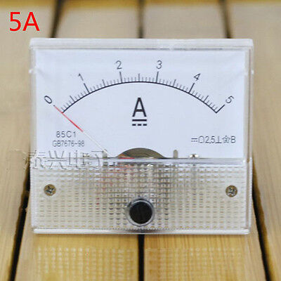 Analog AMP Current Panel Meter DC 0~5A Ammeter 0-5A DC