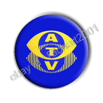 BUTTON BADGE PIN - CLASSIC TV 'ATV' Logo