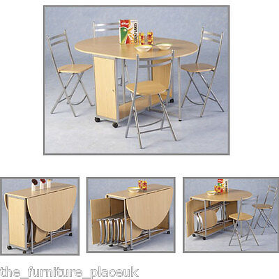 Budget Butterfly Dining Set in Beech With 4 Chairs